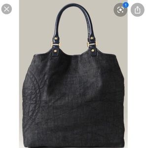 Tory Burch Bags - Tory Burch denim and leather large tote